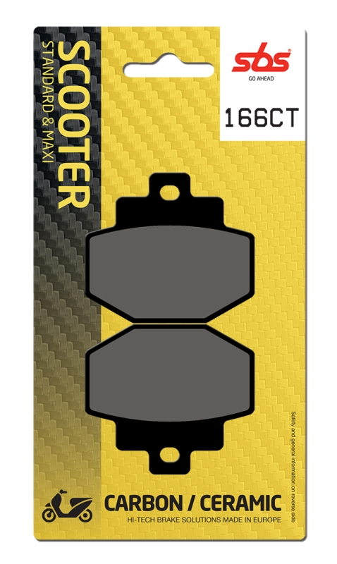 Pastilla de freno SBS P166-CT