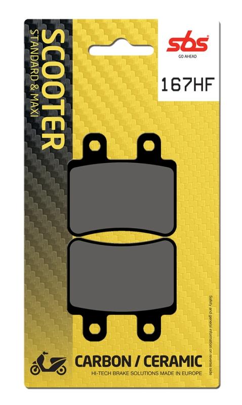 Pastilla de freno SBS P167-HF