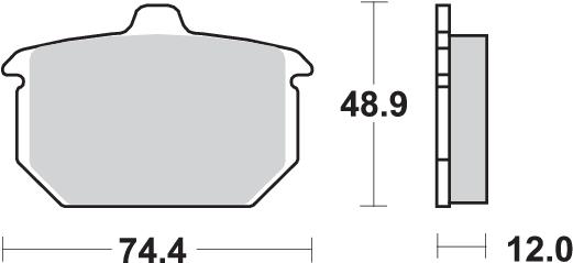 Pastilla de freno SBS P549-LF