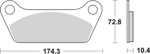 Pastilla de freno SBS P553-LF