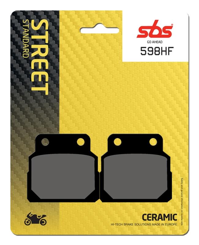Pastilla de freno SBS P598-HF
