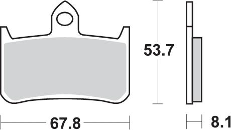 Pastilla de freno SBS P622-RQ