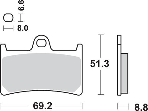 Pastilla de freno SBS P634-RQ