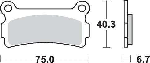 Pastilla de freno SBS P636-LF