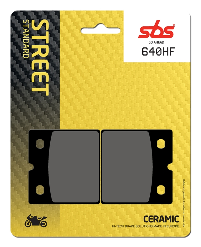 Pastilla de freno SBS P640-HF