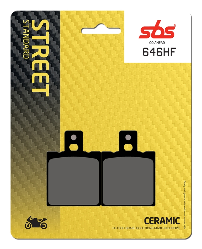 Pastilla de freno SBS P646-HF