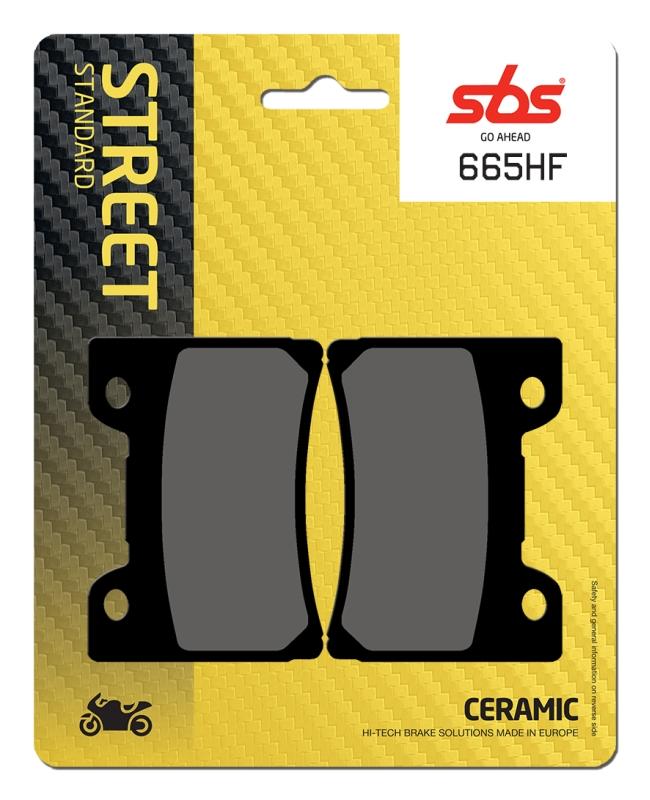 Pastilla de freno SBS P665-HF