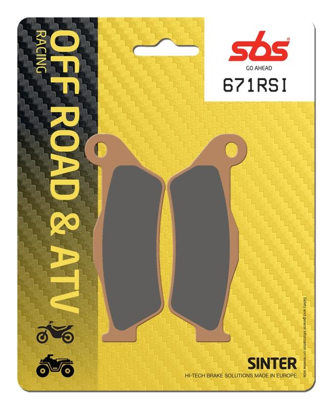 Pastilla de freno SBS P671-RSI