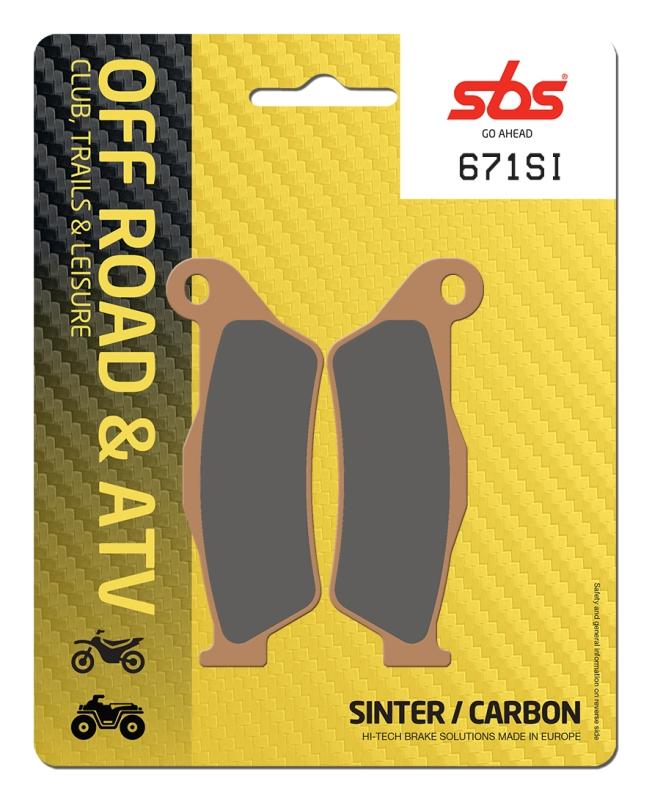 Pastilla de freno SBS P671-SI
