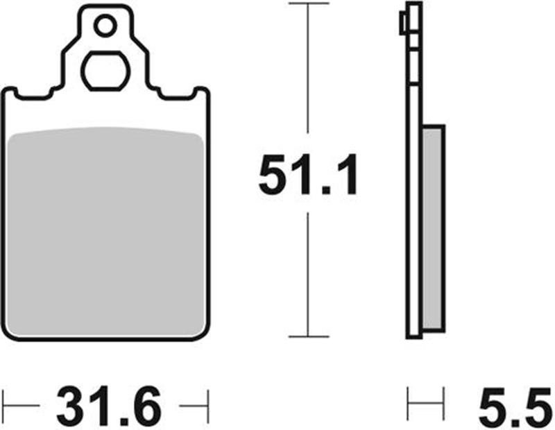 Pastilla de freno SBS P680-LF