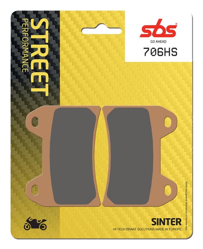 Pastilla de freno SBS P706-HS
