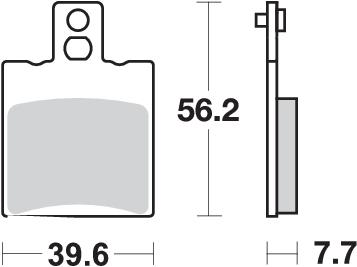 Pastilla de freno SBS P744-HF