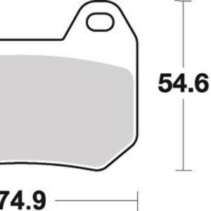 Pastilla de freno SBS P746-LF