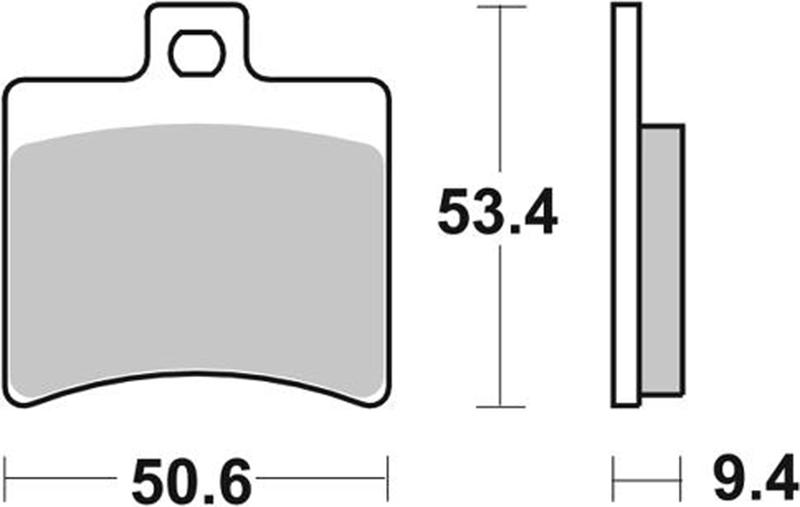 Pastilla de freno SBS P747-LF