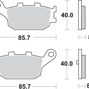 Pastilla de freno SBS P753-LS