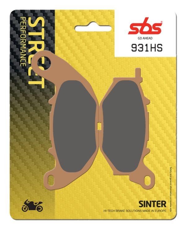 Pastilla de freno SBS P931-HS