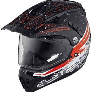 ENDURO - Casco Held Alcatar Negro Blanco Rojo -