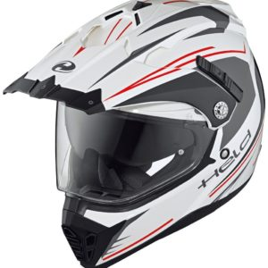 ENDURO - Casco Held Alcatar Blanco Rojo -
