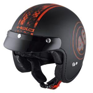 JET - Casco Held Black Bob Negro Rojo -