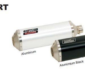 SILENCIOSOS GIANNELLI - Slip on IPERSPORT aluminio (versión Black Line) Suzuki GSX-R 600 i.e. Giannelli 73713B6S -