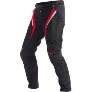 PANTALONES DE CORDURA DAINESE - Pantalón Dainese Drake Super Air Tex Negro Rojo -