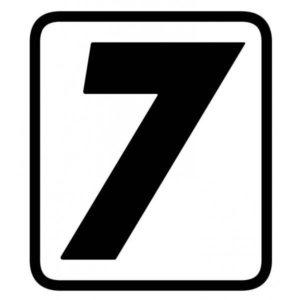 "ADHESIVOS - ADHESIVO BARRACUDA NUMERO ""7"" -"