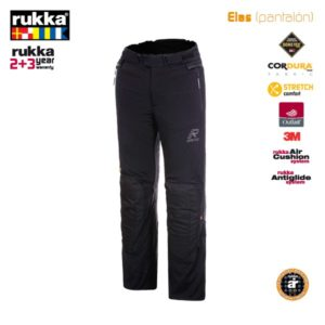 PANTALONES DE CORDURA RUKKA - Pantalón Rukka Elas Negro corto (-7cm) -