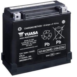 YUASA - Batería Yuasa YTX20HL-BS-PW High Performance -