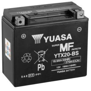 YUASA - Batería Yuasa YTX20-BS Sin Mantenimiento -
