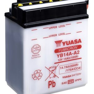 YUASA - Batería Yuasa YB14A-A2 Combipack -
