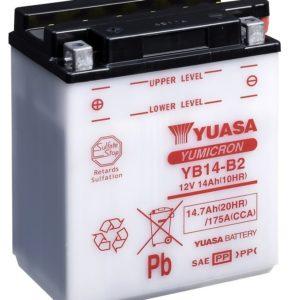 YUASA - Batería Yuasa YB14-B2 Combipack -