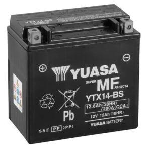 YUASA - Batería Yuasa YTX14-BS Sin Mantenimiento -
