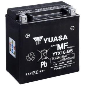 YUASA - Batería Yuasa YTX16-BS Sin Mantenimiento -