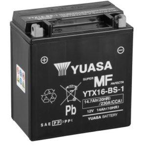 YUASA - Batería Yuasa YTX16-BS-1 Sin Mantenimiento -