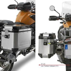 PORTAMALETAS - PORTAMALETAS GIVI LATERAL CAMSIDE 18 BMW R GS/ADVENTURE 1200 04-122 -