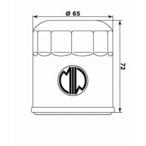 Filtro Aceite Meiwa (MIW) - Filtro aceite Meiwa KTM 400/620 LC4 (2º) -
