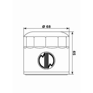 Filtro Aceite Meiwa (MIW) - Filtro aceite Meiwa Triumph TT 600/955 Street Triple -