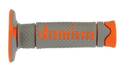 DOMINO - Puños Domino DSH Off Road Gris - Naranja -