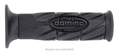 DOMINO - Puños Domino Scooter con Logo Negros abiertos -