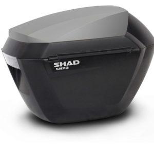 MALETAS SHAD - CONJUNTO BAÚL SHAD SH23 NEGRO/NEGRO -