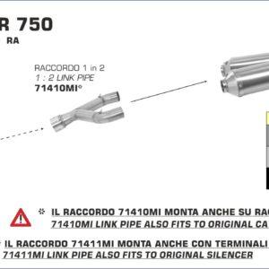 ESCAPES ARROW APRILIA - Silencioso Arrow Thunder de aluminio (Dcho+Izdo) fondo en carbono -