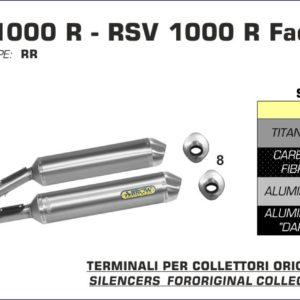 ESCAPES ARROW APRILIA - Silencioso Arrows Race-Tech Approved de titanio (Dcho+Izdo) -