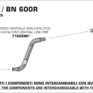 ESCAPES ARROW BENELLI - Silencioso Arrow Thunder de aluminio (Dcho+Izdo) fondo en carbono -