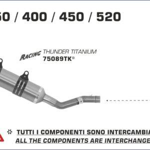 ESCAPES ARROW BETA - Silencioso Arrow Off-Road Thunder de titanio fondo en carbono -