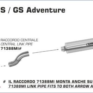 ESCAPES ARROW BMW - COLECTOR RACING ARROW BMW R 1200 GS '04/05. R 1200 GS / GS Adventure '06/09 -