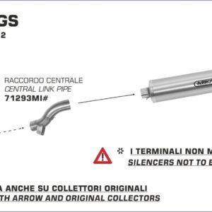ESCAPES ARROW BMW - Conector Arrow bajo para Colectores Arrow originales -