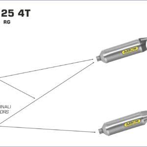 ESCAPES ARROW - Silencioso Arrow Street Thunder de aluminio -