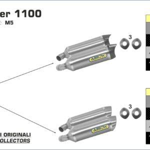 ESCAPES ARROW DUCATI - Silencioso Arrow Thunder Approved aluminium Dark (Dcho+Izdo) -