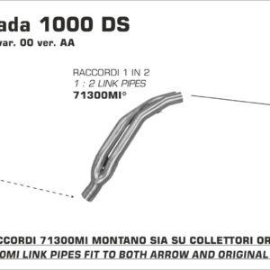 ESCAPES ARROW DUCATI - Conector Arrow 1 en 2 para Colectores Arrow originales -