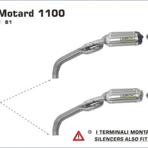 ESCAPES ARROW DUCATI - Silencioso Arrow Thunder Approved de titanio (Dcho+Izdo) - version corta -
